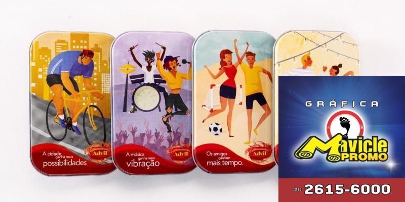 Advil traz a edição limitada do porta a carta em formato de latas   Imã de geladeira e Gráfica Mavicle Promo