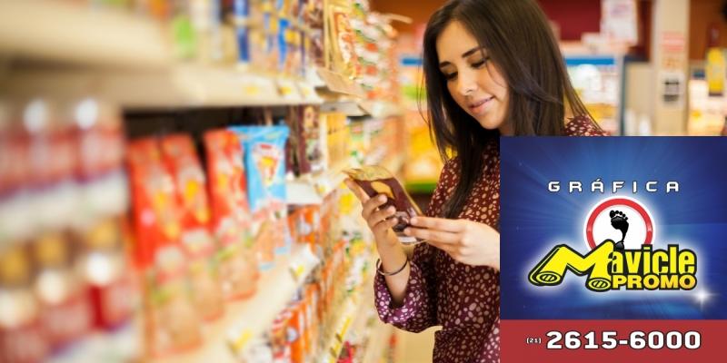 Brasileiro usa os rótulos de embalagens para identificar alimentos saudáveis   Imã de geladeira e Gráfica Mavicle Promo