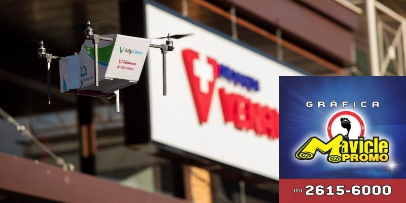 Farmácia Venâncio faz a primeira entrega, com avião não pilotado   Imã de geladeira e Gráfica Mavicle Promo