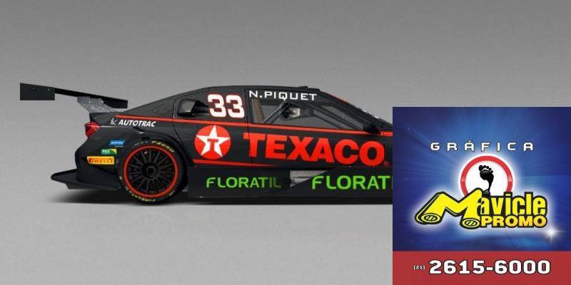 Natulab terá marca Floratil na Stock Car de Nelsinho Piquet   Imã de geladeira e Gráfica Mavicle Promo